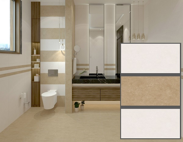 Bộ gạch ốp tường màu nâu tasa đơn giản, nhẹ nhàng