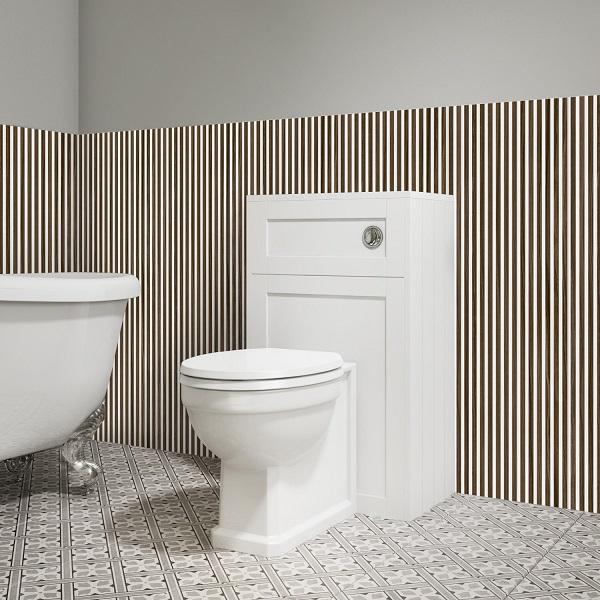 Gạch ốp chân tường cao 90cm prime 05.300900.18312 kẻ sọc tạo cảm giác cho phòng tắm có chiều cao hơn