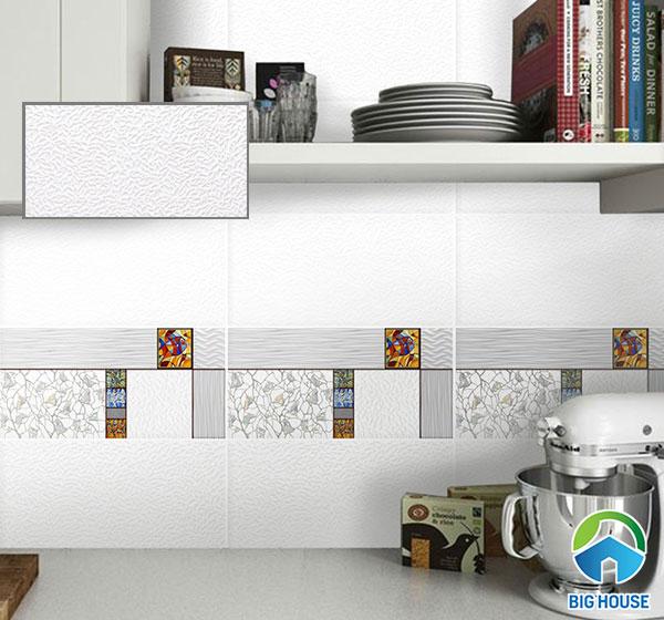 gạch ốp 30x60 màu trắng phòng bếp Viglacera ECO-M36802 tăng thêm tính thẩm mỹ cho không gian