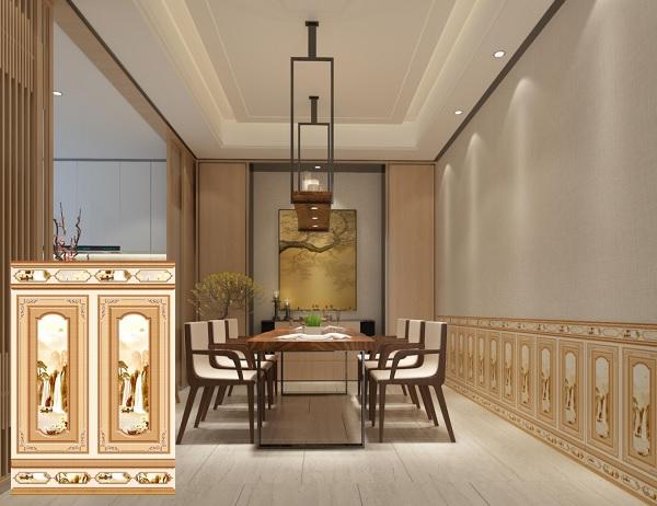 Mẫu gạch Tasa 8685 ốp chân tường phòng ăn đẹp cổ điển, trang nhã