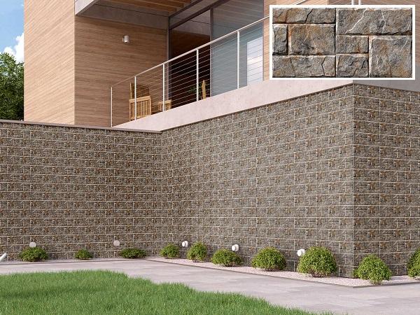mẫu gạch ốp tường Vitto 6308 họa tiết giả đá màu xám đơn giản