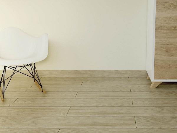 Gạch len tường vân gỗ giúp bảo vệ chân tường hiệu quả