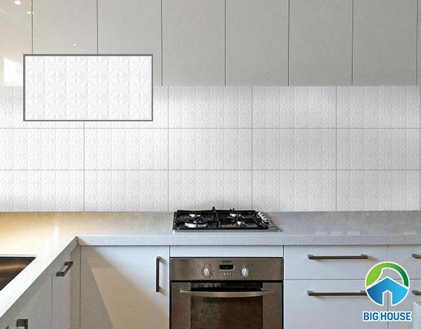 gạch ốp tường 30x60 màu trắng Viglacera ECO M-36908 bề mặt in họa tiết độc đáo