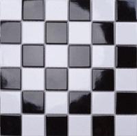 Gạch mosaic họa tiết đen - trắng MST25044