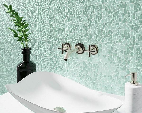 Gạch mosaic ốp nhà tắm với kểu dáng độc đáo, mới lạ
