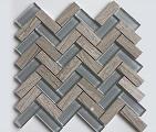 Gạch mosaic xương cá màu hỗn hợp