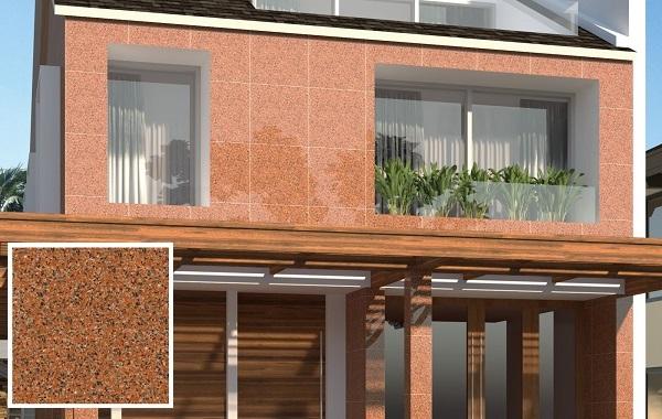 gạch ốp tường ngoài trời giả đá granite granit Vento VT619 màu nâu đỏ nổi bật