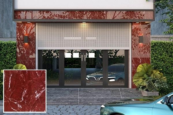Mẫu gạch vân đá marble TRT6819 màu đỏ ấn tượng cho không gian mặt tiền