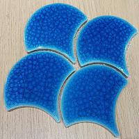 Gạch mosaic vảy cá màu xanh ngọc