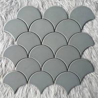 Mẫu gạch mosaic vảy cá YD-Y0905 màu xám