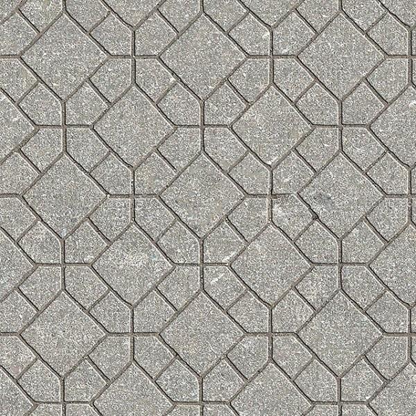 map gạch lát vỉa hè terrazzo màu xám họa tiết hình khối