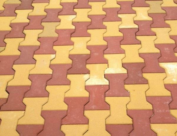 kết hợp 2 mẫu gạch chữ I đỏ - cam