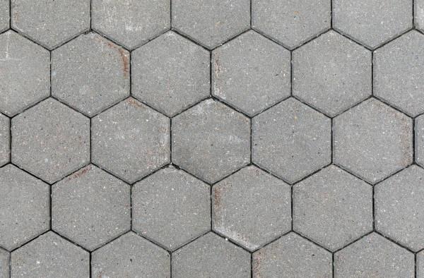 Gạch block lục giác màu xám xi măng