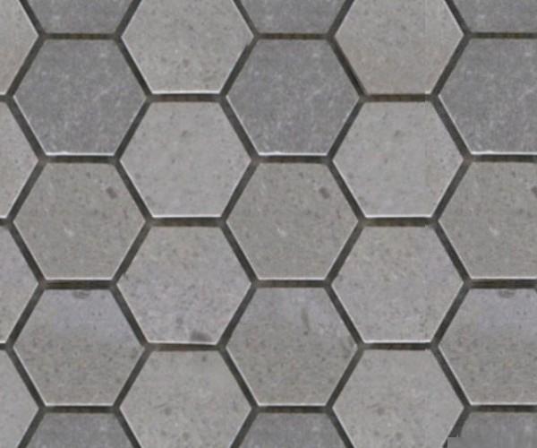 Gạch lục giác màu ghi xám