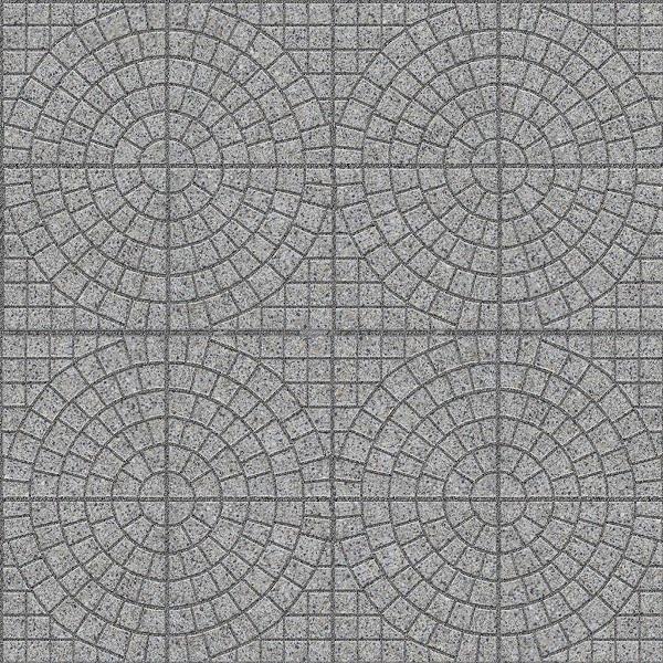 map gạch vỉa hè terrazzo bề mặt định hình họa tiết là những vòng tròn đồng tâm ấn tượng