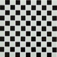 gạch mosaic ốp nhà tắm dải màu đen - trắng