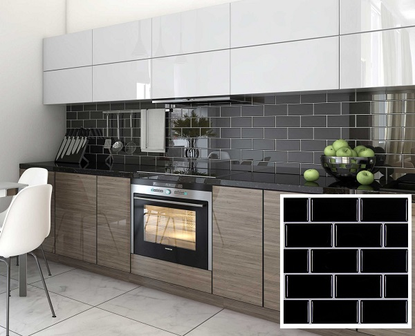 Gạch mosaic men bóng ốp tường không chỉ mang thẩm mỹ cao mà còn vệ sinh dễ dàng hơn