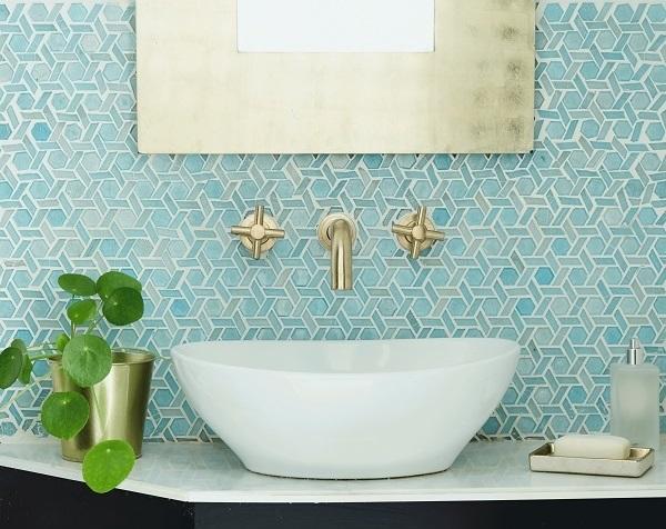 Mẫu gạch mosaic ốp phòng tắm với kiểu dáng độc đáo, ấn tượng