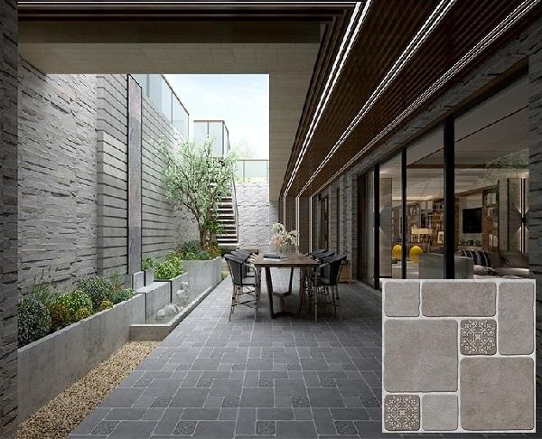 Mẫu gạch sân vườn tasa 5879 bề mặt định hình chống trơn cực tốt