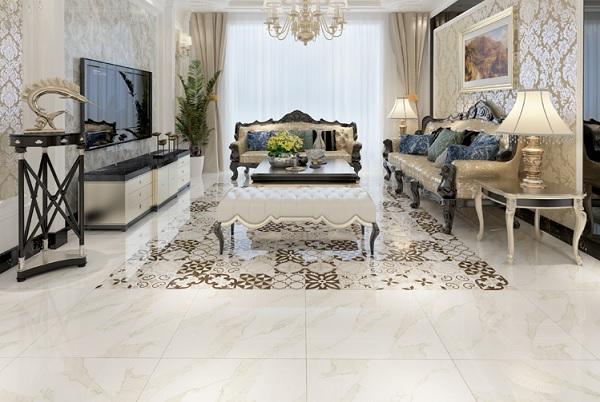 gạch thảm bông lát nền phòng khách
