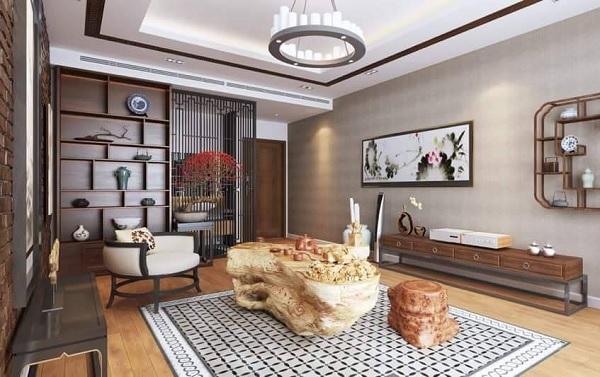 gạch thảm bông lát phòng khách