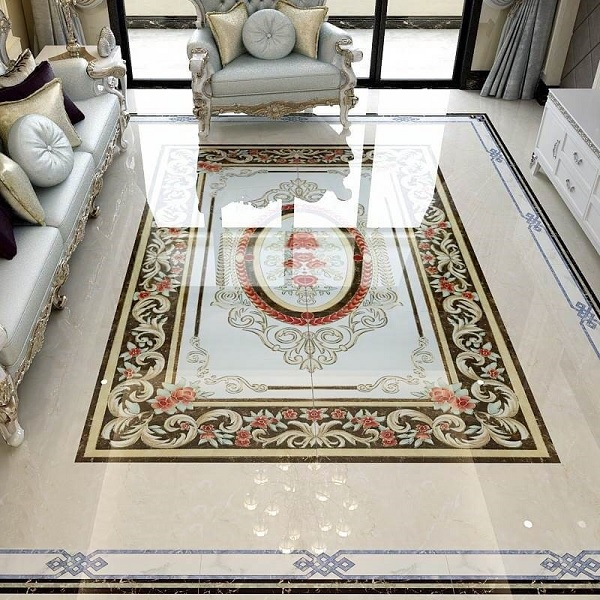 gạch thảm vi tinh lát phòng khách